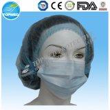 Máscaraes protetoras não tecidas cirúrgicas descartáveis com embalagem do PE