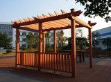 Pergola composto plástico de madeira decorativo do jardim agradável do projeto