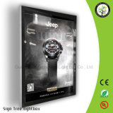 Rectángulo ligero rápido publicitario montado en la pared del aluminio LED del marco