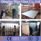 6-10 Ácido mmtoughened gravados vidro despolido usada como porta do banheiro