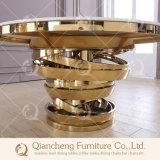 테이블을 Wedding 최신 판매 대리석 유리제 황금 중앙 장식품