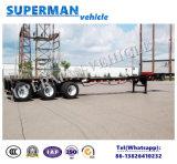 de 40FT de bâti de conteneur remorque flexible de camion semi pour l'usage spécial