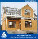 Hogar ligero prefabricado de la estructura del marco de acero de la buena calidad como chalet