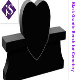 Headstone nero naturale personalizzato del granito per il cimitero