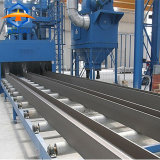 L'acier de canal U Profil de l'acier grenaillage Machine de nettoyage de surface