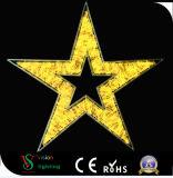 2.o Luces de la estrella del adorno para la decoración al aire libre de la Navidad