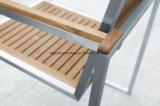 Muebles de teca de acero inoxidable Mesas de comedor al aire libre