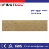 Medisch lever Plastic Stroken van het Verband van het Pleister van de Huid van pvc van 40X10mm de Zelfklevende