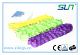 2018 t de tipo sintético de 1-100interminables de elevación de la eslinga redonda