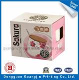 4 коробка напечатанная цветами бумажная Corrugated упаковывая с окном