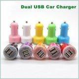De Lader van de Auto USB 5V 1A kleurde Mini de Lader van de Auto voor Mobiele Telefoon