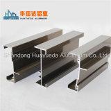Profil en aluminium d'électrophorèse pour faire la porte et le guichet