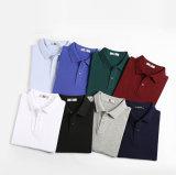 Chemise de polo de chemise de circuit de tissu de maille des hommes personnalisés par usine