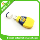선전용 선물 유행 주문을 받아서 만들어진 고무 USB 섬광 드라이브 (SLF-RU020)