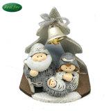 Cabine van de Geboorte van Christus van Kerstmis de Ceramische Vastgestelde Houten