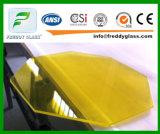 Verre feuilleté normal de la CE avec le film orange coloré