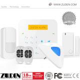 ホームセキュリティーのためのGSMの無線の及びワイヤーで縛られた情報処理機能をもった侵入者の警報システム