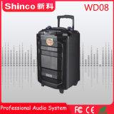 Shinco chariot portable Bluetooth® de nouvelle conception 8''karaoké haut-parleur sans fil