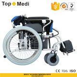 Кресло-коляска электричества промотирования Topmedi алюминиевая складная для перехода