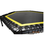 Salto de trampolín Mini hexagonal de equipos de gimnasia