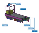 2 Ton o Payload Carro Agv veículo guiada automatizado para o depósito