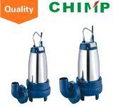 1,1kw / 1.5HP Caixa de aço inoxidável Ferro fundido Impulsor de corte Bomba submersível de esgoto para água suja