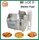 Le poisson industriel cuisant le plantain à la friteuse de matériel ébrèche la friteuse électrique de friteuse à vendre