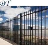 Revestimento a pó preto do quintal de segurança de aço de Metal Régua vertical