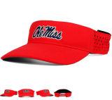 Velcoの背部が付いている3D刺繍の日曜日バイザーの帽子の帽子