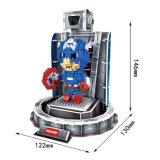 2 dans 1 mini jouet en plastique de synthons de héros (10260005)