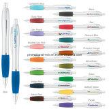 De promotie Zilveren Plastic Ballpoint van Pennen voor Bevordering
