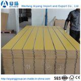 Visage de haute qualité du grain du bois fendu Slatwall/MDF