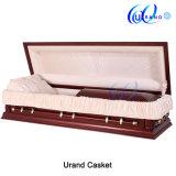 特大葬儀の大人のビロードの内部の熱い販売の棺および小箱