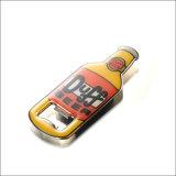 Apri di Keychain della bottiglia da birra dell'anello chiave apri di figura della bottiglia del metallo