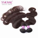 Pelo de calidad superior de los Peruvian del color #2 de la extensión del pelo humano