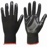 Нитриловые Blcak черного цвета с покрытием из нейлона вязаные рукавицы