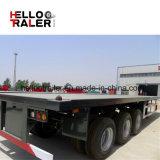 Marca a base piatta del rimorchio dello Shandong Helloo dell'asse del rimorchio 3 del ribaltatore di caricamento del contenitore