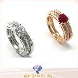 I monili nuova CZ di modo lapidano l'anello di fidanzamento sterlina di cerimonia nuziale d'argento 925 (R10210)