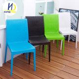 Cheap Imitation en plastique de plein air en osier empilables chaise de jardin