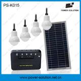 Sistema de iluminação doméstica de energia solar para a família com carregador de telemóvel