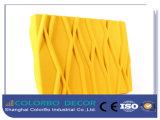 Panneau acoustique 3D en fibre de polyester pour salle de restaurant
