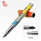 Penna di fontana personalizzata marchio di lusso del metallo della penna del metallo su vendita