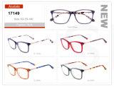 Último projeto de venda por grosso de óculos óculos de estoque da estrutura de acetato de óptica