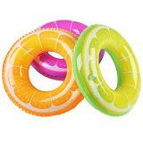 boucle gonflable de bain de beignet de couleur de café de diamètre de 100cm