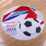 Кубок мира из микрофибры для печати за круглым столом на пляже полотенце
