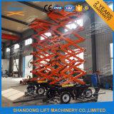 8m mobile élévatrice à ciseaux électrique hydraulique de levage vertical