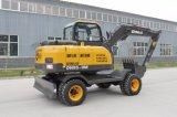 Dn85-8 Ginuo Excavadora de Ruedas hidráulicas de 8 Ton.