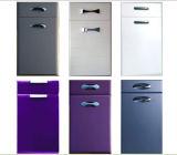 高い光沢のあるカラー終了する食器棚のドア