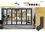 двери алюминиевого сплава 1.2mm и 2.0mm складывая стеклянные с следом