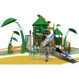 子供のためのステンレス鋼のスライドが付いているKaiqiの木の屋外の運動場
